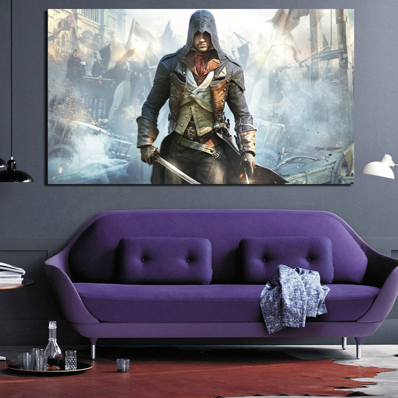 Assassins Creed Unity Arno Canvas Painting Print Living Room Home Decoration Modern Wall Art Oil Painting Posters Pictures Art image