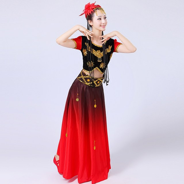 9cdc74401327 Online Shop Women  s new modern Xinjiang dance costumes ethnic ...