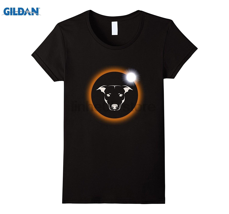 GILDAN Pitbull Dog Total Solar Eclipse 2017 T-Shirt dress T-shirt
