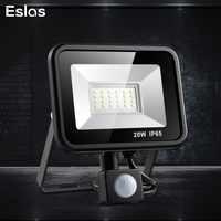 Eslas LED flutlicht 220 V 10 W 20 W 30 W 50 W Wand Licht IP65 Wasserdicht Mit Bewegung sensor Scheinwerfer für Garage Lager