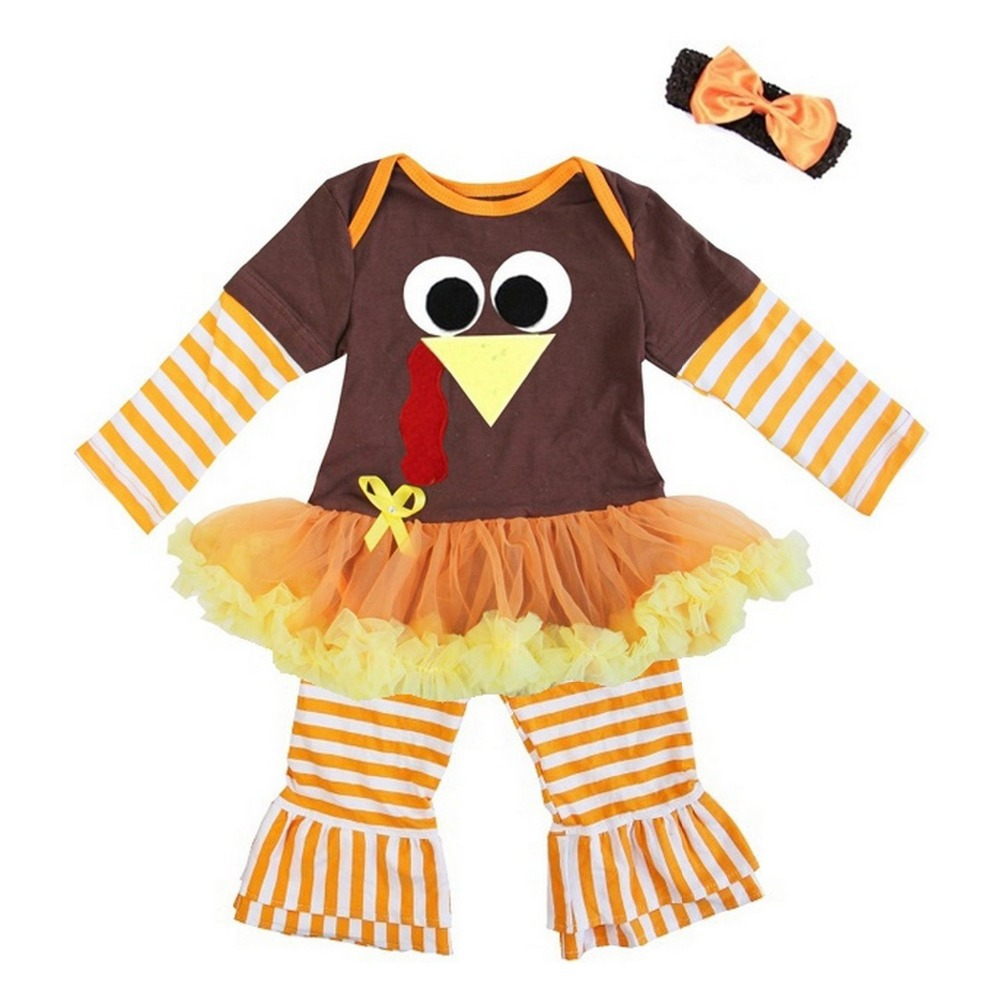 Baby Girl Clothes Thanksgiving Turkey Love Bling