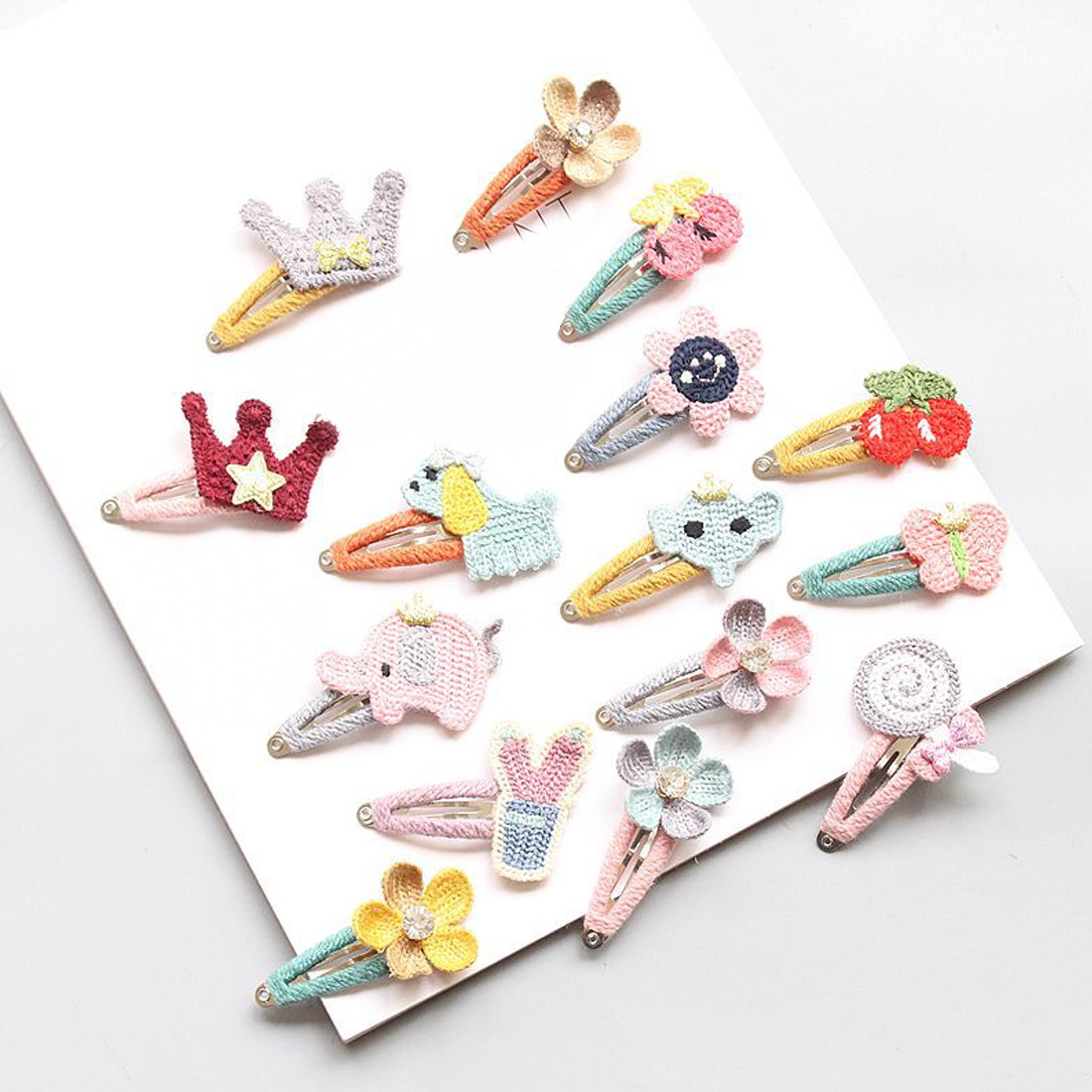 Kids Infant Lovely Cute Fashion Hairpin Baby Girl Cartoon Animal Motifs Clip Set Beautiful Hair Accessories