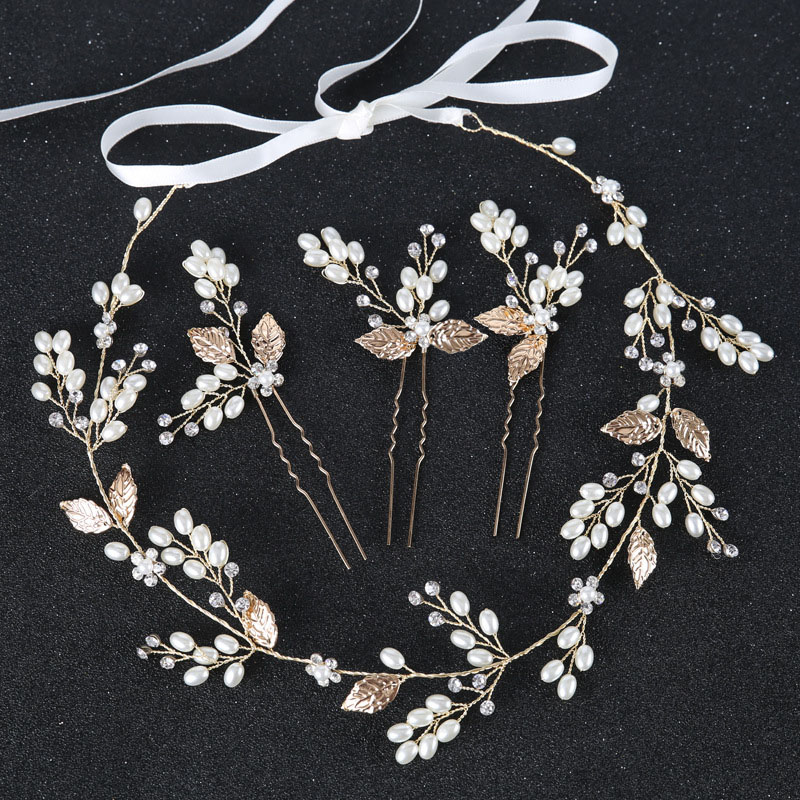 Metal Leaf wedding hair accessories hairbands Bride Headband crown and tiaras bridal Hair Accessories hairbands Jewelry