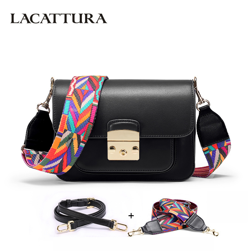LACATTURA 2018 New Fashion Brand Design Women Crossbody Bag High Quality PU Leather Shoulder Messenger Bags