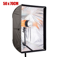Size 50cm x 70cm Rectangle Photo Studio Reflector Flash Cloth Umbrella Softbox for Speedlight Photo Studio Accessories