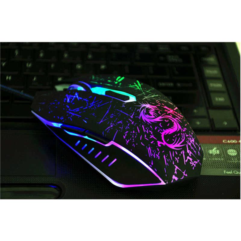 ブランドのusbコンピュータ光学式有線ゲーミングマウス用空気pcノートブックdota2ゲーマーラップトップパッドラトンsem fio mauアイアンマンsnigirマウス