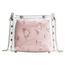 MONNET CAUTHY New Arrival Totes Sweet Fashion Chic Style Transparent Jelly Crossbody Bag Solid Color White Pink Green Girls Bags