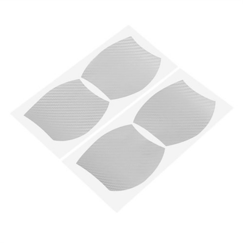 Image 5 - 4Pcs/Set automovil door stickers  Handle Protection Film Scratches Resistant Membrane carbon fiber decoration car accessories-in Car Stickers from Automobiles & Motorcycles