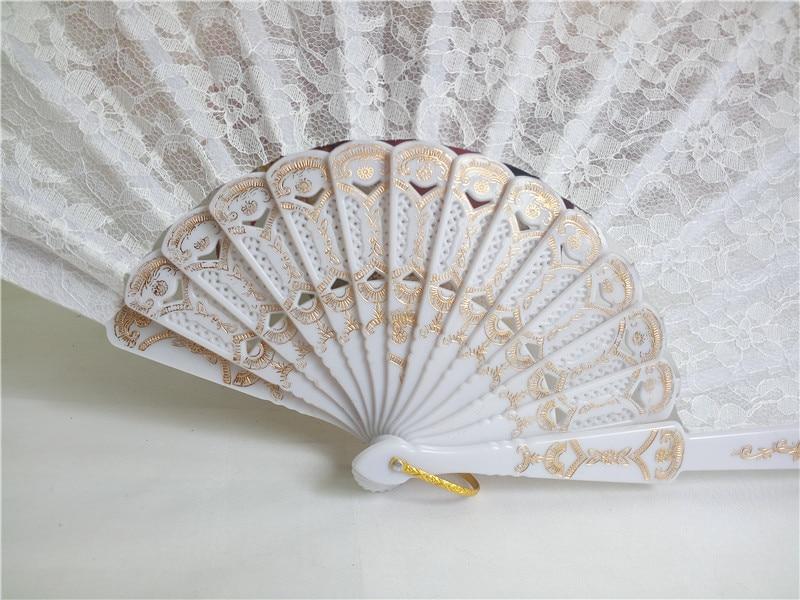 50pcs Bele čipke Poročni navijač favorit, Dame Hand Fan, Čipke s - Prazniki in zabave - Fotografija 3