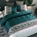 3 Colors Flower Printed Bedding Sets 6 Size Single Double Full Queen King Duvet Cover Set With Pillowcase (Without Bedsheet)