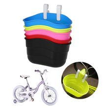 Bicycle Basket Children Bike Front Handlebar Carrier Scooter Saddlebag Plastic Bicycle Basket Bike Accessories(China)