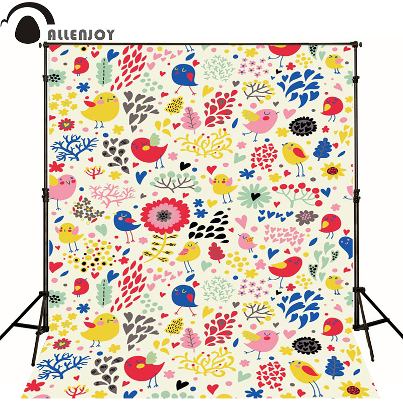 Allenjoy Photographic background Bird Pink Heart Tree newborn vinyl backdrops  photography photocall photo for studio k000890980 for toshiba satellite c50d c50d b c50d b c55d b laptop motherboard integrated zkwae la b302p store no 999