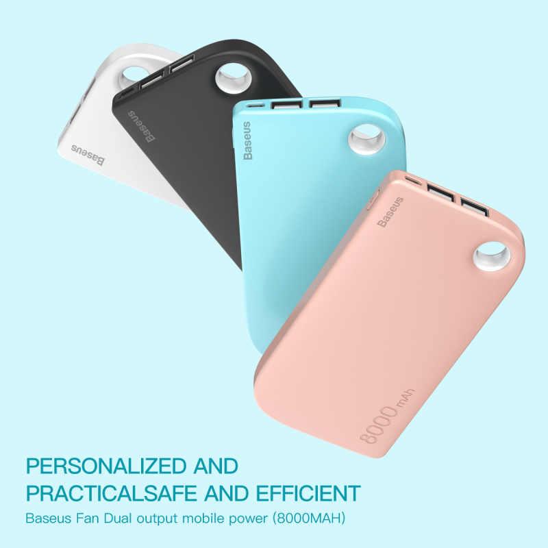 Chargeur portatif à deux bornes usb de base de dégagement 8000mAh chargeur de batterie externe Portable pour Samsung iPhone Xiaomi Powerbank