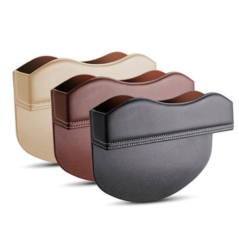 Car Seat Crevice Storage Box <font><b>Multi-function</b></font> <font><b>Auto</b></font> Gap Pockets PU Leather <font><b>Organizers</b></font> Black Interior Accessories Universal Size