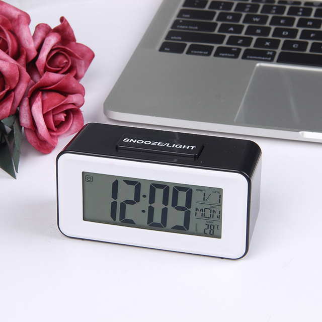 Digital Table Clocks LED Alarm Clock Student Clock With Week Snooze Thermometer Electronic Calendar LCD Display Desk Clock Timer