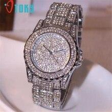 CREATIVE Watch Luxury women watches rhinestone ceramic crystal Quartz watches Lady Dress Quartz Watches relogio feminino