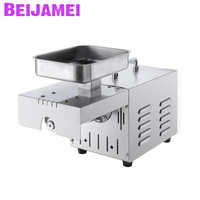 BEIJAMEI Promotion Hot Cold oil press machine Commercial Home oil extraction expeller Portable peanut sesame oil presser