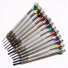 0.6Mm-2.0Mm 13Pcs New Watchmakers Screwdrivers Set Watch Glasses Flat Blade Assort Slotted Set, Jewellers Wa