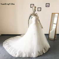 Real Picture Sexy Lace A Line Wedding Dress Sweetheart 2017 Vestido De Noiva Empire Lace Up