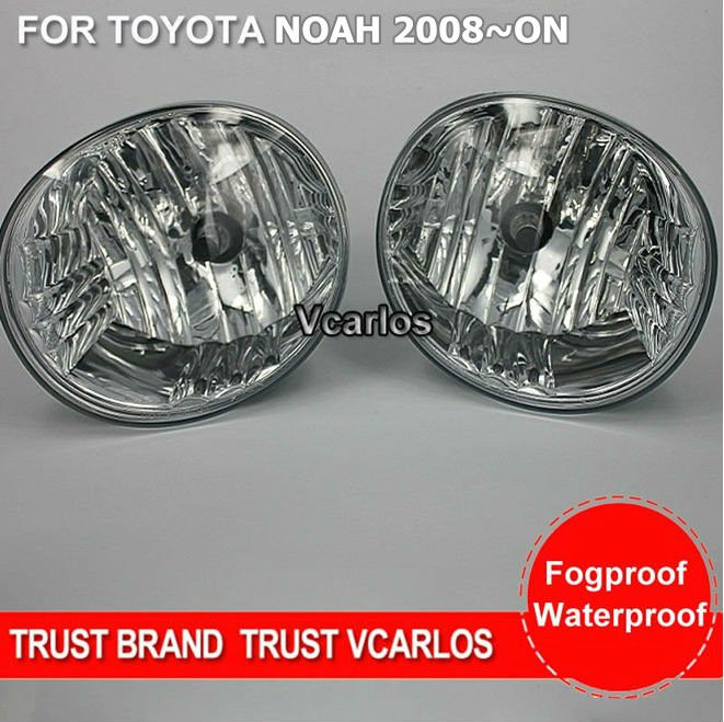 ФОТО eOsuns halogen fog lamp for toyota noah 2008~ON, top quality OEM design with harness, wiring kit and switch