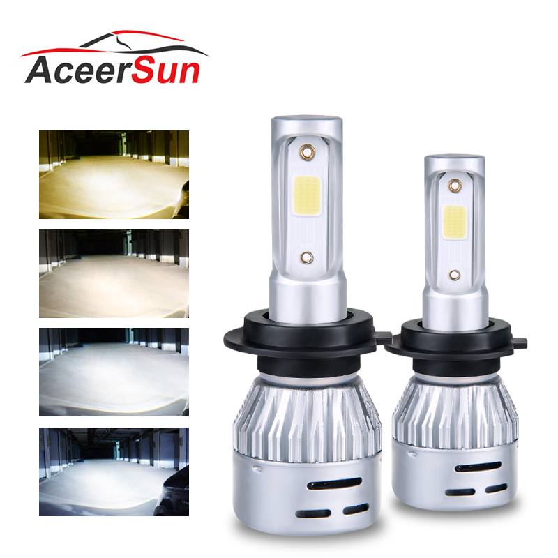 Realistic Voovoo Car Headlight H4 Led H7 Led Bulb 3000k 6000k H8 H11 9005 Hb3 9006 Hb4 72w 10000lm Turbo Led Dual Color Yellow White Light Car Headlight Bulbs(led) Back To Search Resultsautomobiles & Motorcycles