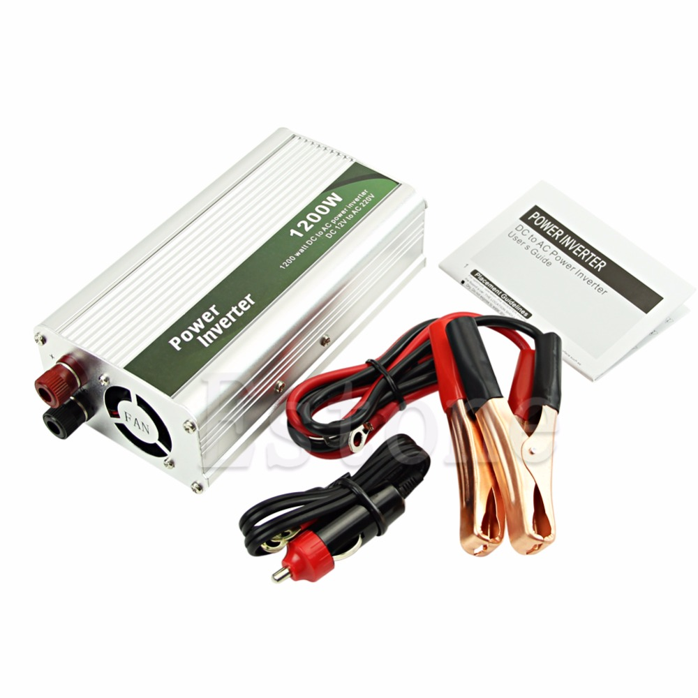 1200W DC 12V to AC 220V Car Power Inverter Charger Converter for Electronic 1200w dc 12v to ac 220v car power inverter charger converter for electronic