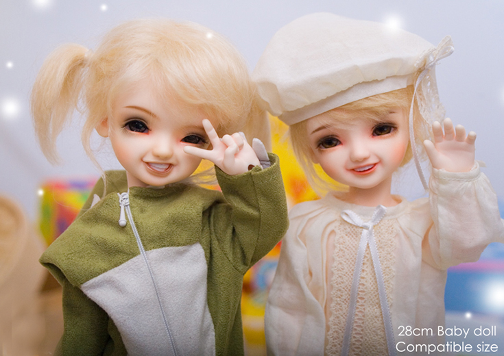 Smiling doll 1/6 girl Guo / Cherry / Kiwi beautiful resin action figures hot bjd free shipping-in Dolls from Toys & Hobbies    2