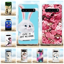 For Samsung Galaxy S10 5G Cover Soft TPU SM-G977B Case Floral Patterned Capa