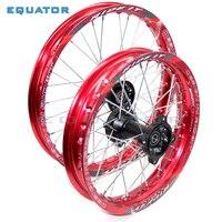red 12mm or 15mm Front 1.60x17 inch Rear 1.85x14 inch aluminium Alloy Wheel Rim For 160cc 150CC Dirt Pit bike 14 17 inch wheel