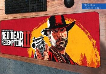 900x300x2 мм красный изображения из фильма «Red Dead Redemption» 2 коврик для мыши подарок игровой геймер мышь коврики компьютер мода padmouse коврики для иг...
