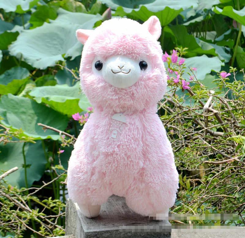Big Size 45 cm Japonês Alpacasso Brinquedos de Pelúcia Bonecas Kawaii Ovelhas Alpaca Brinquedos de Pelúcia Gigante Bichos de pelúcia Brinquedo de Natal para Crianças presentes