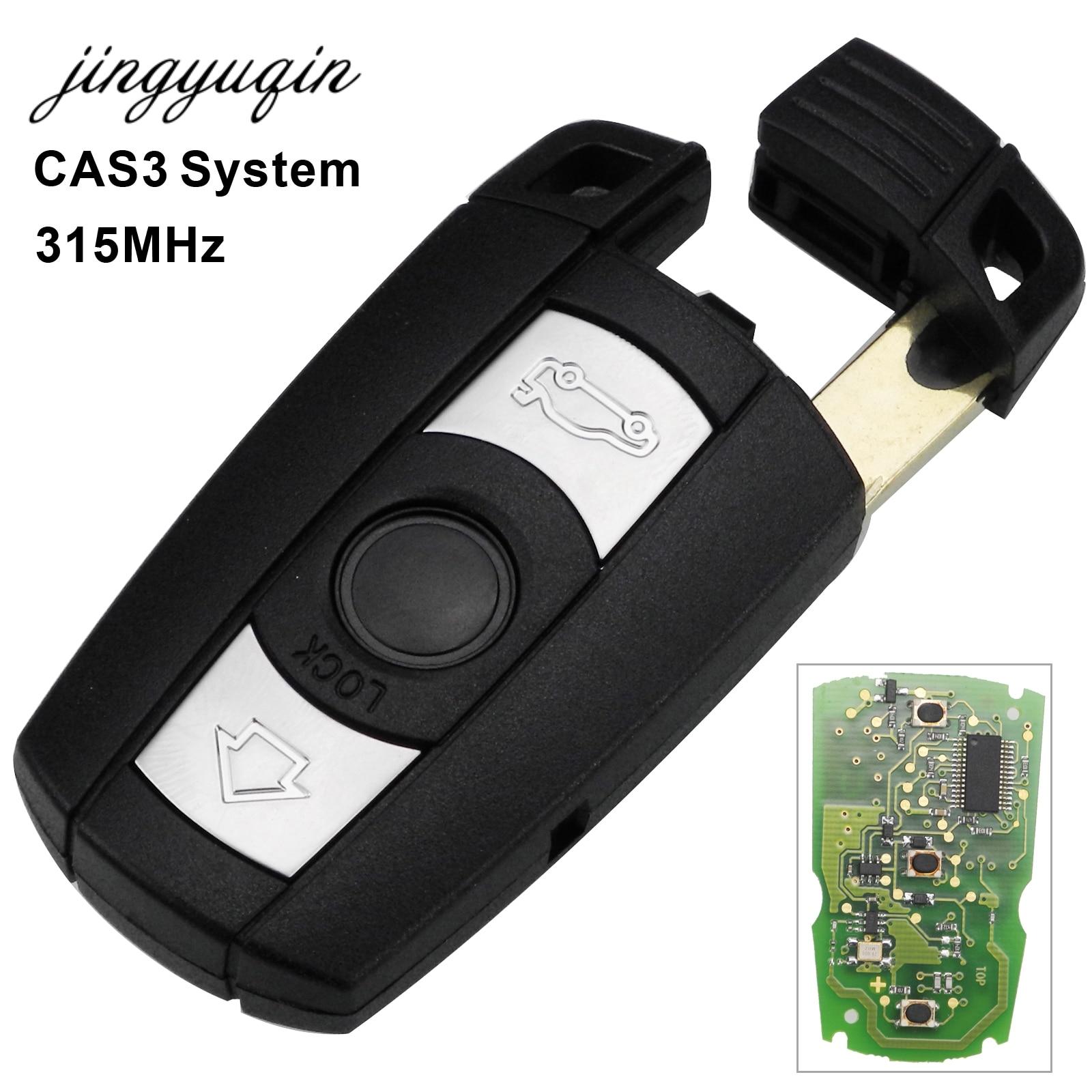 Jingyuqin Voiture À Distance Clé Intelligente BRICOLAGE pour BMW CAS3 X5 X6 Z4 1/3/5/7 Série 315 mhz ID46 D'entrée Sans Clé Émetteur