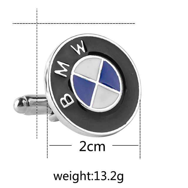 Men's Cuff Links With BMW Car Logo