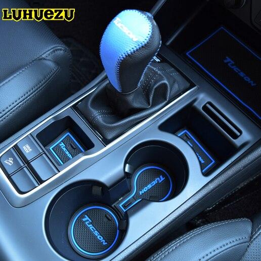 20PCS Rubber Interior Door Groove Mat Cup Mat Non-Slip For Hyundai Tucson 2015 2016 2017 2018 Accessories