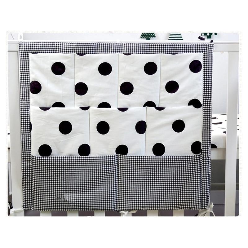 Multi Pockets Baby Cot Crib Bed Hanging Storage Bag Toys Diaper Bottle Organizer for Baby Bedding Set Baby Bedside Organizer