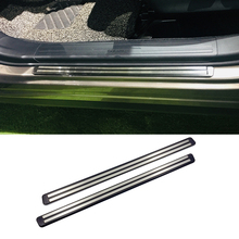 Stainless Steel Outer Door Sills Scuff Guard Plate Threshold Covers Trim 2pcs For Subaru Forester SK 2018 2019