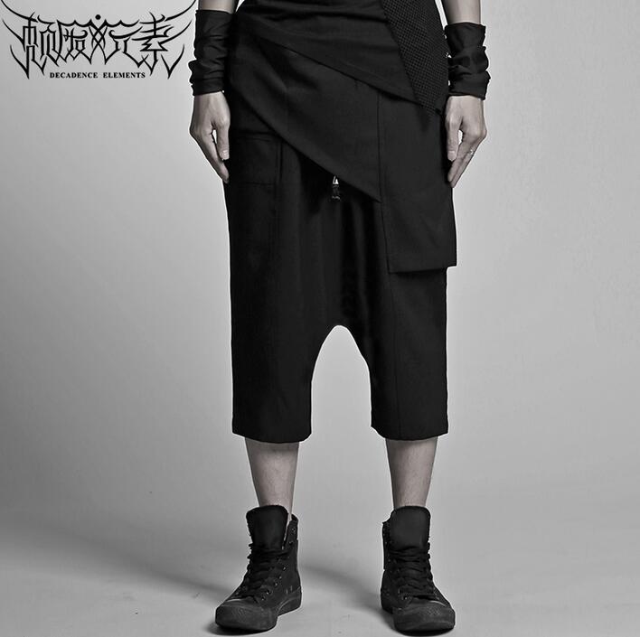 Pantacourt coupe tridimensionnelle noir pantalon asymétrique homme pantones hombre cargo pantalon pour homme pantalon homme été
