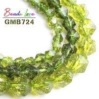 Natürliche Stein Faceted Grüne Peridot Lose Spacer Perlen Für Schmuck Machen Pick Größe 6 8 10mm DIY Armband Halskette 15 zoll