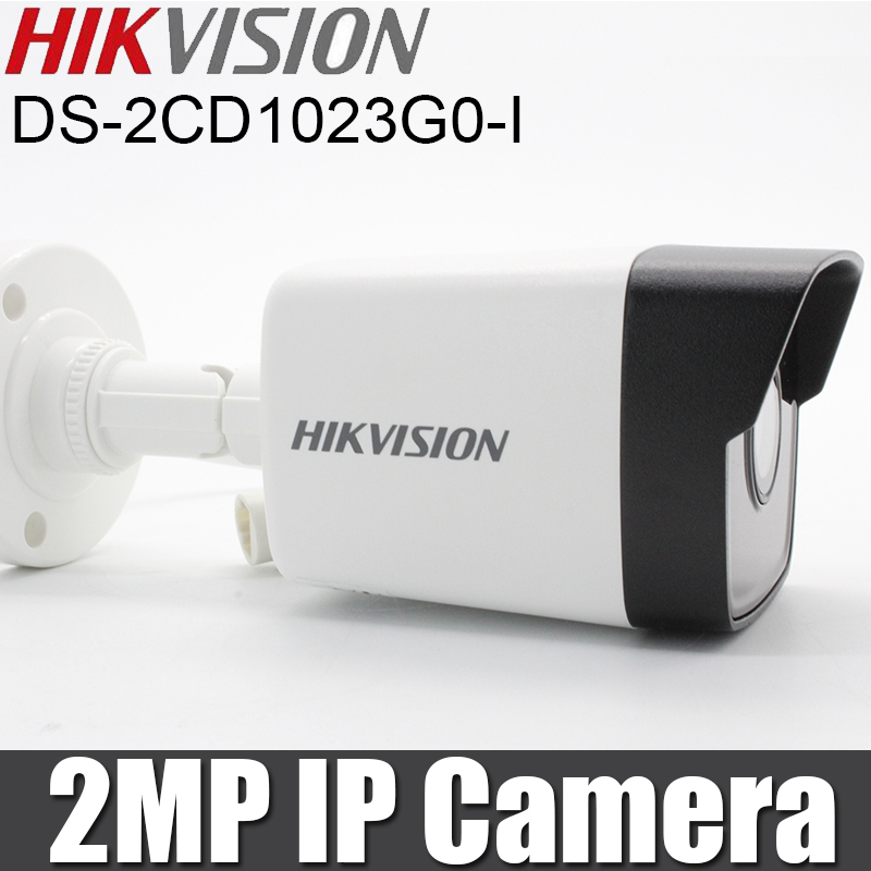 Hikvision Original 2MP IP Camera DS 2CD1023G0 I Bullet Camera 1080P H 265 IR30m IP67 replace