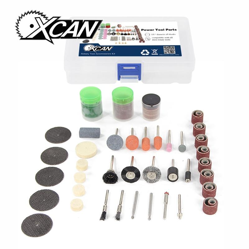 XCAN 105pcs/set Mini Drill Kit Fits Electric Sanding Cutting Grinding Tool Dremel Polish Accessory Bit