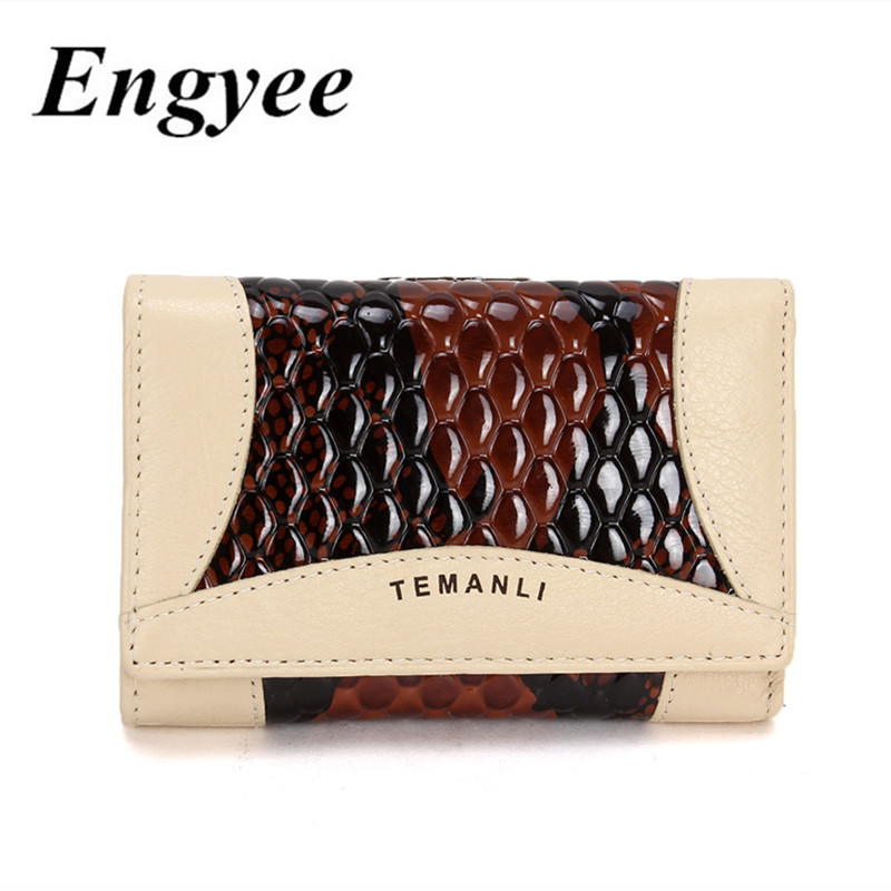 ENGYEE Small Hasp Womens Wallet Mini Luxury Female Genuine Leather Wallets And Purses High Quality Lady Purse Clutch Card Holder