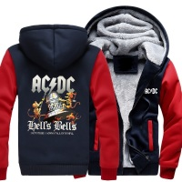 Fashion ACDC Men's Hoodie Sweatshirt Top Black Hoodie Hip Hop Street Suit Winter Warm Men's Jacket