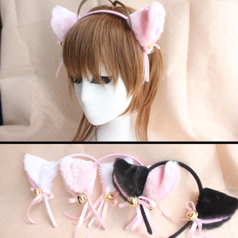 Headband 1PC Fluff Women Headwear Cosplay Cat's Ear  Cute Girls Buterfly Fashion Hair Clasp