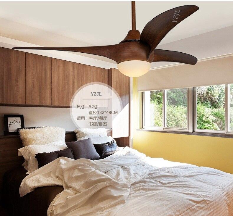 52inch Ceiling Fan Light Living Room Bedroom Fan Lamp Ceiling Remote  Control Retro Western Style Simple LED Fan Ceiling Lamp In Ceiling Fans  From Lights ...