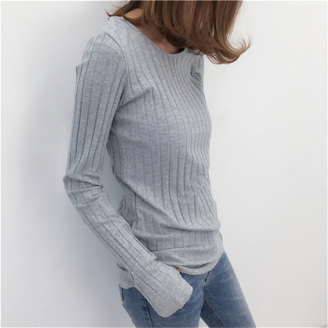 cb1ebd6c Basic Cotton Ribbed Tops Tees With Thumb Hole Women Long Sleeve Tee Shirts  Essential Layering T