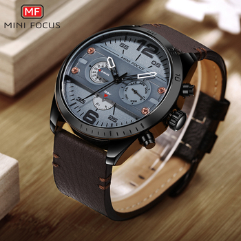 New Chronograph Men's Casual Sport Quartz Waterproof Watch For Men 1