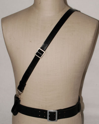 WWII GERMAN ARMY OFFICER LEATHER CROSS STRAP SHOULDER STRAP World military Store