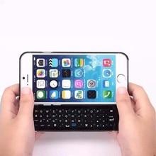 Black 4.7 Inch Mini Slide Bluetooth Keyboard for iPhone 6 Keyboard Case 1pc + free shipping