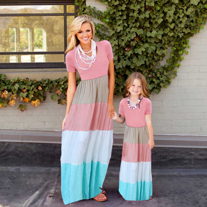 Mother daughter dresses Patchwork Family matching clothes Nmd Baby girl clothes Family look matching mother daughter clothes