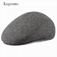 Kagenmo Męski kapelusz starszych czapka zimowa jesień i zimę wełniana czapka Duży Rozmiar 59 cm 60 cm 61 cm 62 cm